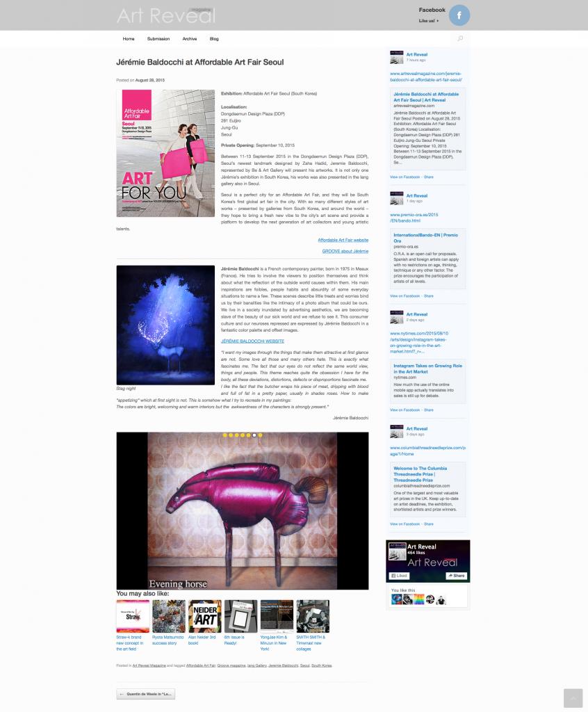 Art magazine Groove Korea South Korea